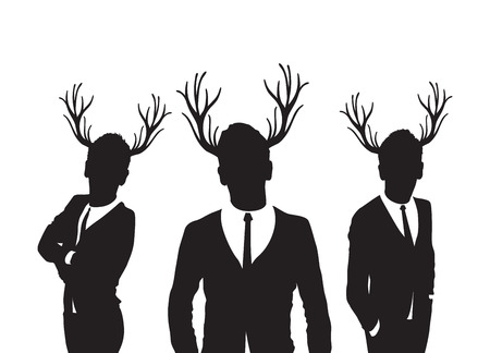 marriage night: stag men group Illustration