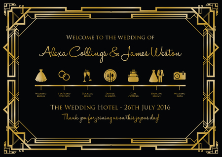 wedding timeline background gatsby Vectores
