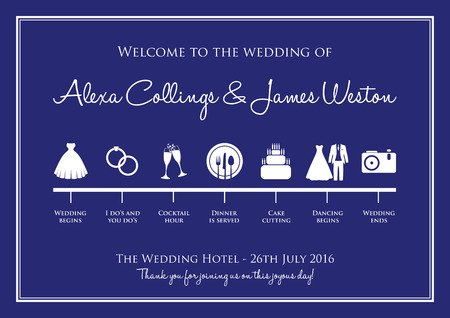 planner: wedding timeline background