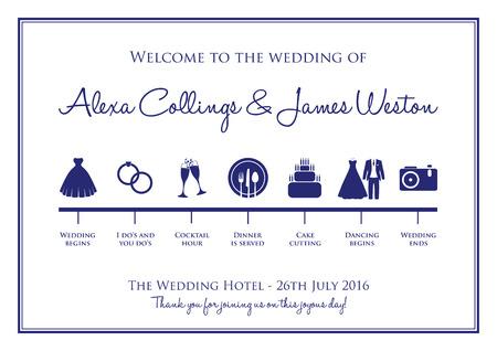 hitched: wedding timeline background