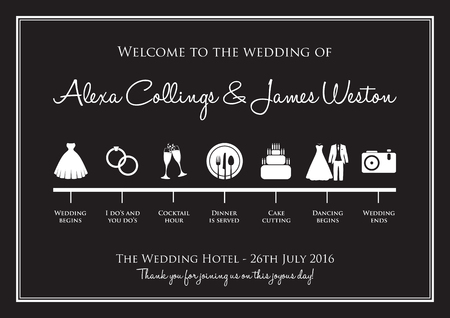 La boda de fondo línea de tiempo Foto de archivo - 46673465