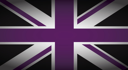 union jack: uk purple and black