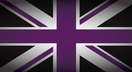 welsh flag: uk purple and black