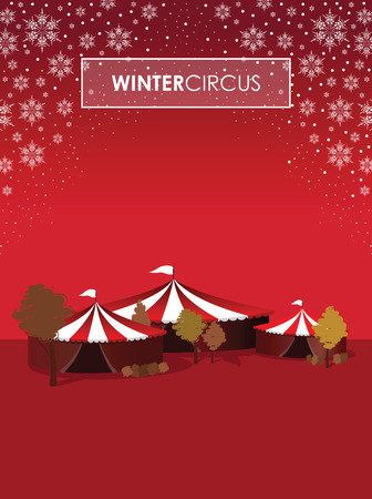 revue: a winter circus background