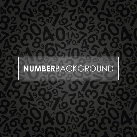 jumbled: a black abstract number background