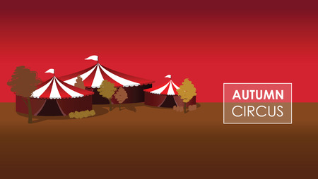 revue: a autumn circus background Illustration
