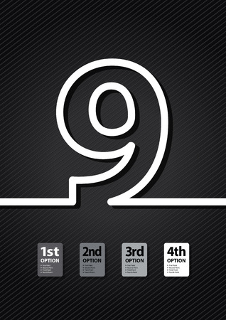 educational material: a black number background