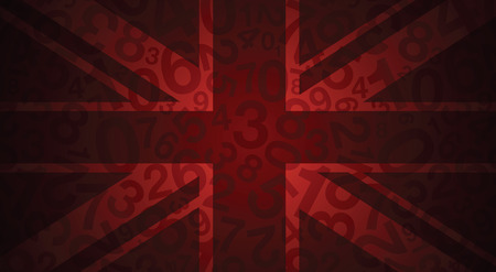 red and blue: an abstract red uk flag