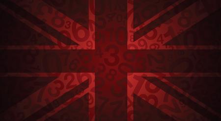 bandera reino unido: una bandera roja abstracta uk Vectores