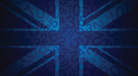 uk flag: una bandera azul abstracta uk