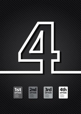 jumbled: a black number background