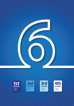 a blue number background Illustration