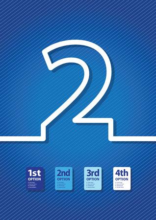 jumbled: a blue number background Illustration