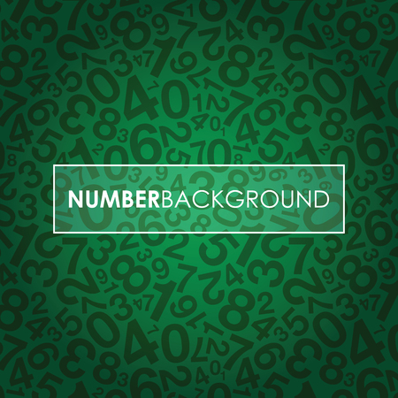 green background: a green abstract number background