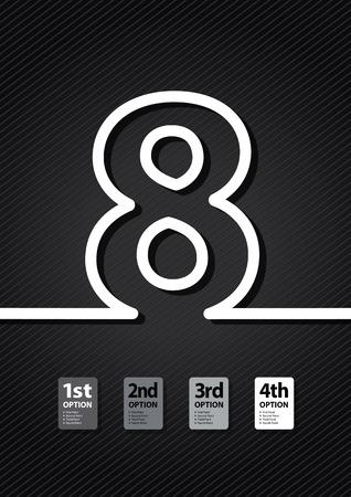 a black number background