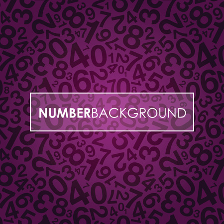 jumbled: a purple abstract number background Illustration