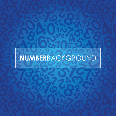 jumbled: a blue abstract number background