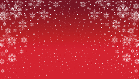 red snowflake background: a red and white snowflake background