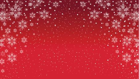 flocon de neige: un flocon de neige fond rouge et blanc