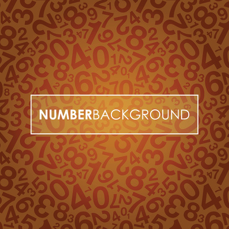 an orange abstract number background