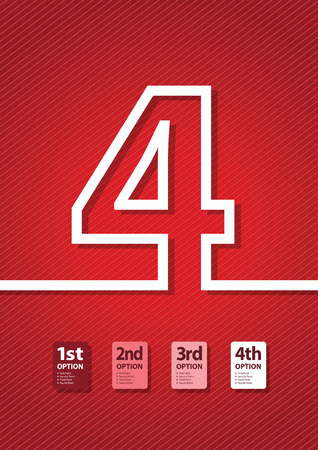 jumbled: a red number background