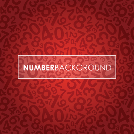 jumbled: a red abstract number background