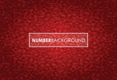 a red abstract number background