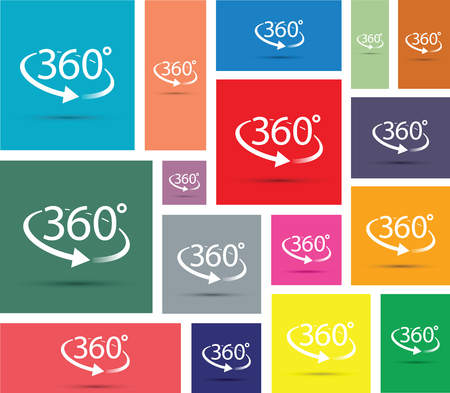 upward movements: abstract 360 degrees icon