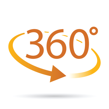abstract 360 degrees icon