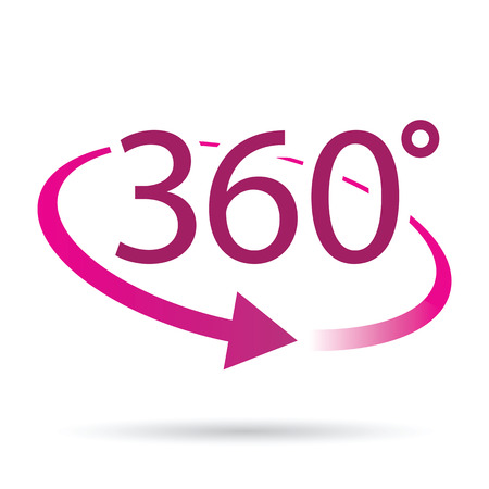 consulting services: abstract 360 degrees icon