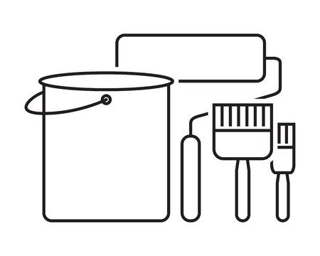 renovating: paint brush icon set