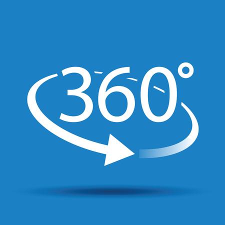 upward movements: three hundred and sixty degree abstract icon