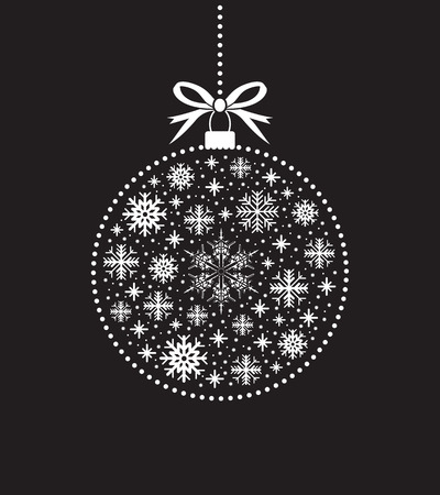 modern christmas baubles: black and white christmas ball ball