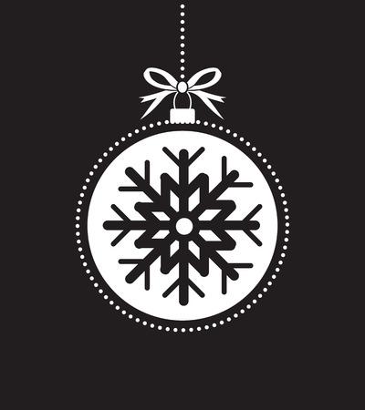Schwarz-Weiß-Ball Weihnachten Ball Standard-Bild - 49813447