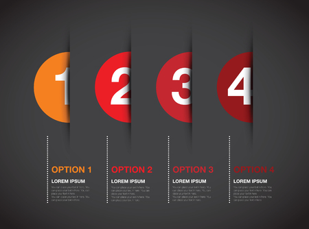 circle design: red numbered option background