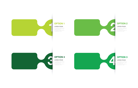 tabs: green numbered option background Illustration