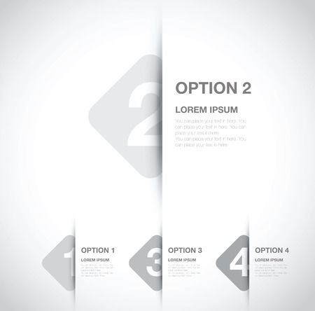 circle design: numbered option background