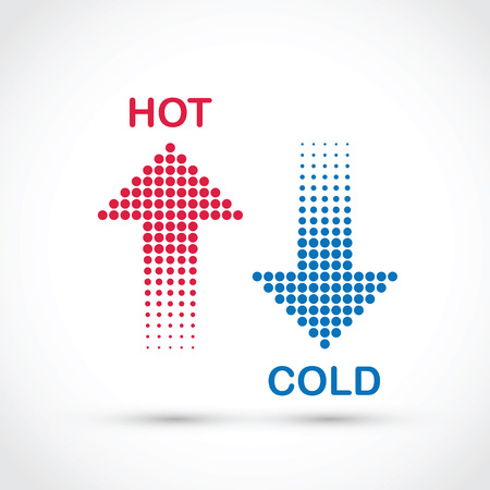 up arrow: hot and cold