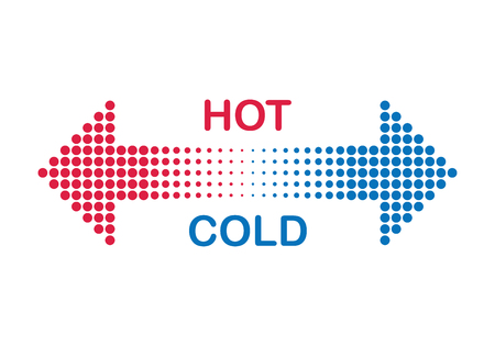 freddo: calda e fredda Vettoriali
