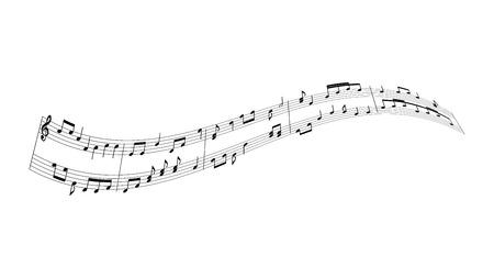 Musik Noten Hintergrund Standard-Bild - 50440930