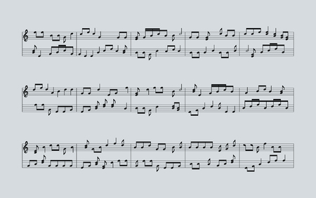 lineas decorativas: notas de la música de fondo
