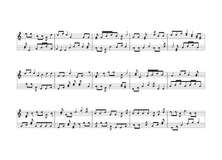 Notas de la música de fondo Foto de archivo - 50440938