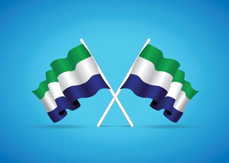 leone: sierra leone national flag