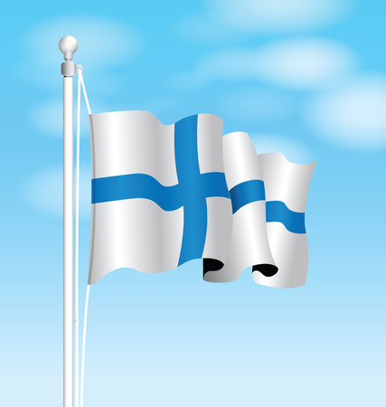 finland: finland flag Illustration