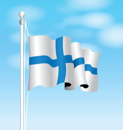 colour image: finland flag Illustration