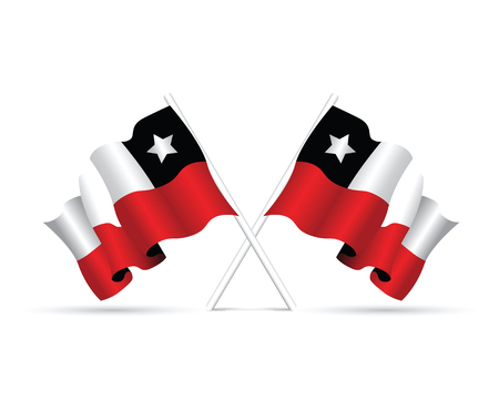 red flag up: chile flag