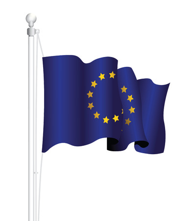 strasbourg: european flag Illustration