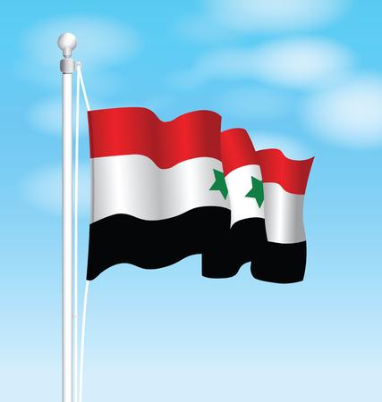 Syria: syria national flag Illustration