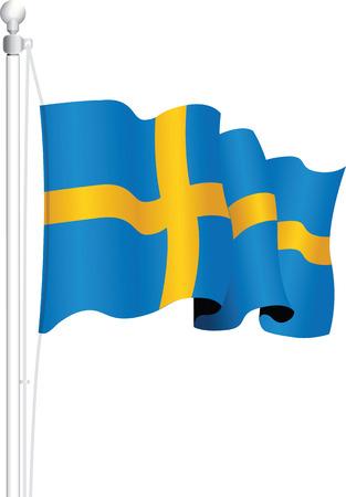 sweden: sweden national flag Illustration