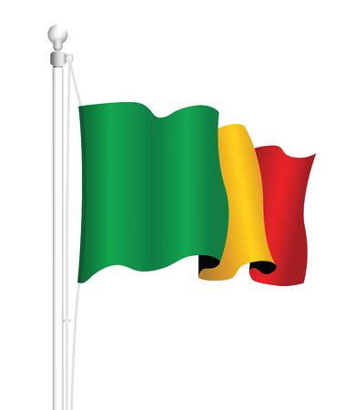 senegal: senegal national flag